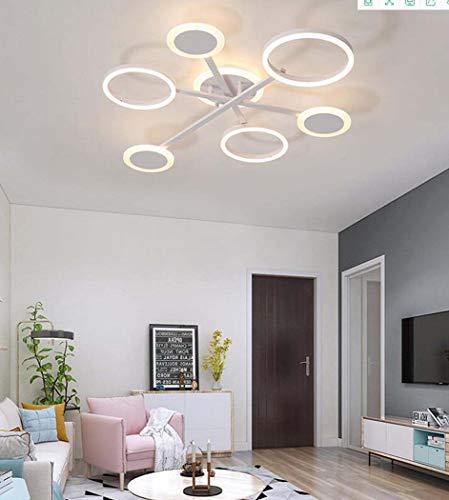 QCKDQ Plafondlamp, woonkamer kroonluchter stijlvol ontwerp met 6 lampjes, flush mount plafondlamp verlichting voor slaapkamer woonkamer studio