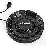 BONAI Akku Ladegerät 16 Slot Batterieladegerät LED Akkuladegerät für AA/AAA NI-MH NI-CD Wiederaufladbar Batterien