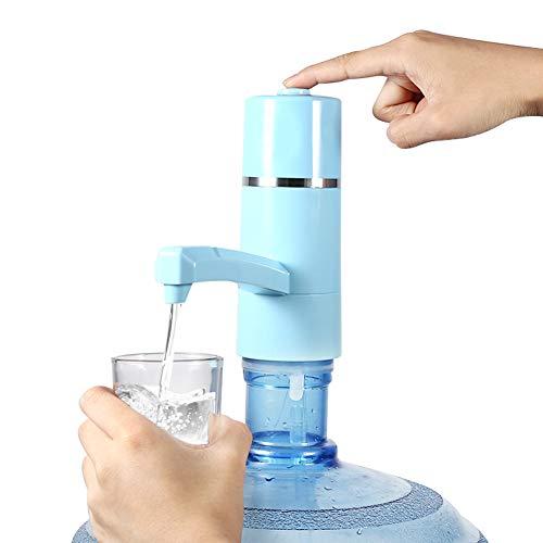 Haofy Dispensador de Agua Eléctrico, Bomba de Agua de Carga USB, Dispensador de Bomba de Agua Inalámbrico para Camping, Escuela, Oficina, Hogar (Azul)