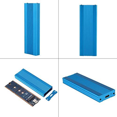 Caja SSD Externa, USB3.1 a M.2 NVME Caja SSD Externa NGFF Adaptador PCIE a Tipo C 1050Mb / S Transmisión de Alta Velocidad para M2 ASM2362(Azul)