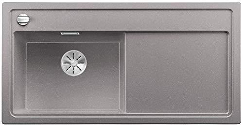 Blanco Zenar XL 6 S-F SILGRANIT® PuraDur® mit Ablauffernbedienung, Becken links o. Zub. (Farbe: alumetallic)