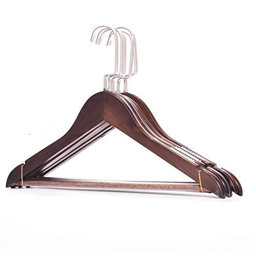 Suspensión de ropa Paquete de 20 perchas con acabado natural Perchas de...