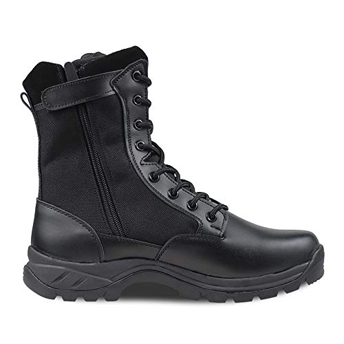 Ludey Men's 8'' Military Boots Leather Nylon Work & Safety Boots Tactical Boots Outdoor Water...