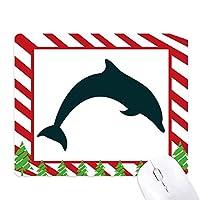 ブルーオーシャン大人しいジャンプイルカ ゴムクリスマスキャンディマウスパッド
