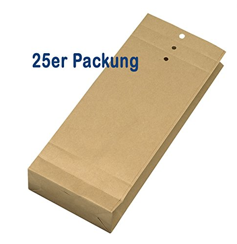 25 Stück Musterbeutel 245 x 100 x 40 mm - Natron braun - 120 g/m²