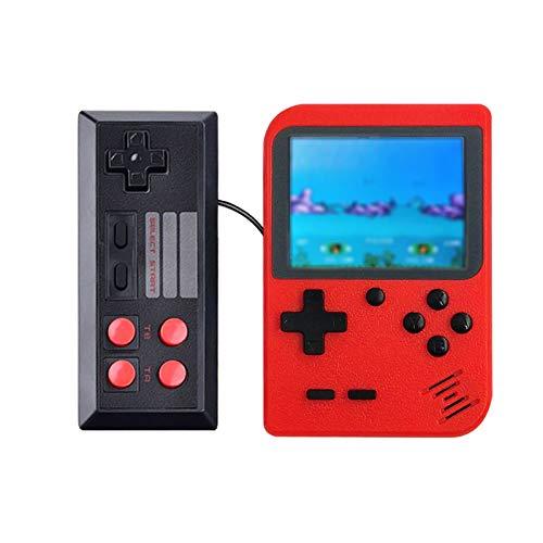 Happyroom Handheld Spielkonsole - 500 Retro Spielekonsole Playstation 2 Spiele 3 Zoll Gameboy Retro Konsole für Kinder Geschenk, Unterstützung TV Player, tragbare Retro-Videospielkonsole (red)