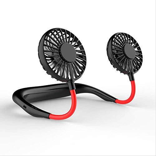NOBRAND Sports Ventilador portátil con manos libres para el cuello, doble ventilador de aire acondicionado con batería para el hogar