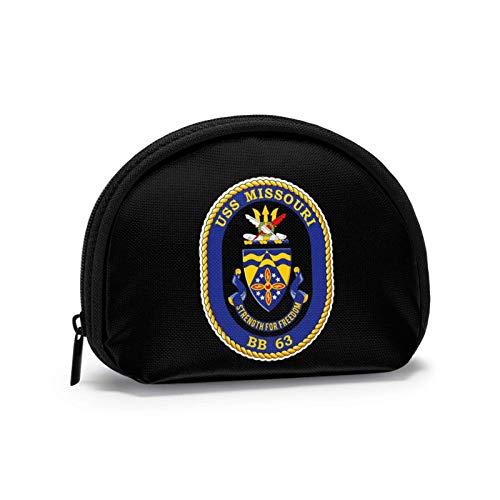 Usn Us Navy Bb 63 Uss Missouri Portafoglio piccolo portamonete Borsa mi-ni Borse cosmetiche Borsa con cerniera per donna