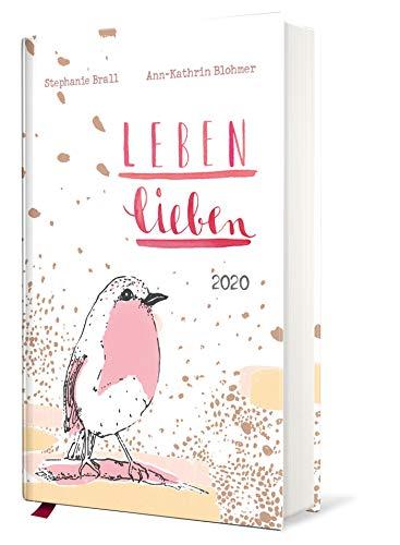 Leben lieben - Taschenkalender 2020: Terminkalender m. Wochenkalendarium, illustrierte Aufmacherseiten, Monatsübersicht, Ferientermine & Jahresübersichten 2020/2021, Leseband, 10,0 x 15,0 cm