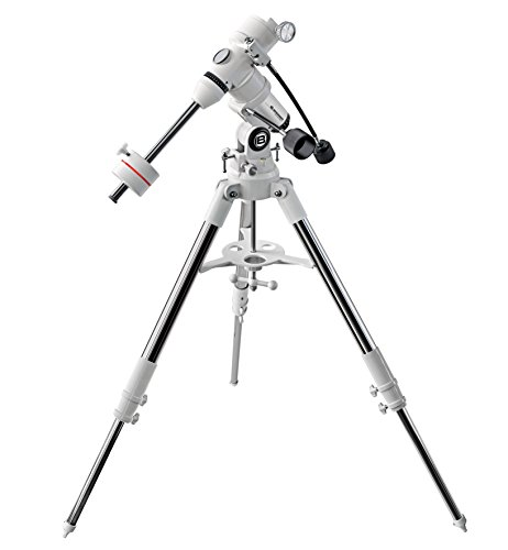 Bresser Messier EXOS-1 EQ Teleskop Montierung mit bis zu 7 Kilogramm Tragfähigkeit und stabilem Aluminium Dreibeinstativ