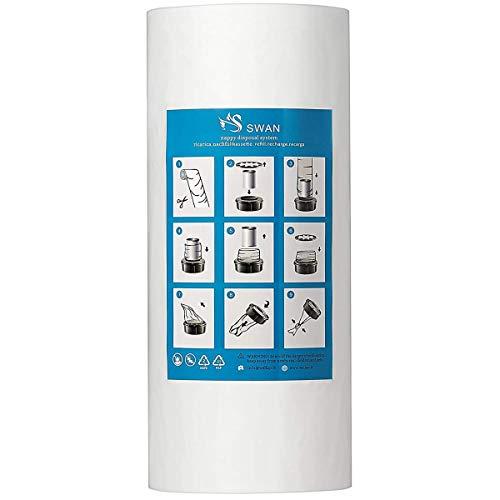 Nachfüllfolie kompatibel mit Tommee Tippee Tec, kompatibel mit Twist & Click, Angelcare und Litter Locker II, inklusive Papprolle (250m ohne Papprolle)