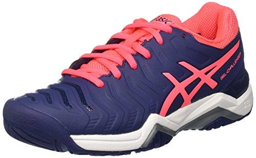 Asics Gel-Challenger 11, Zapatillas de Deporte Mujer, Azul (Indigo Blue/Diva Pink/Silver), 37 EU