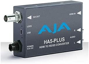 AJA HA5-Plus HDMI to 3G-SDI Mini-Converter, Supports 8 Ch of HDMI Embedded Audio