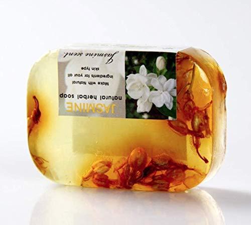 Savon artisanal à l'huile essentielle de jasmin Aromatherapy Hydratant blanchissant, rétrécissant les pores, éclaircissant le teint de la peau, 90g Simple Paquet-8 PC