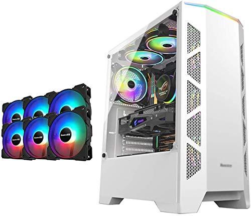 Wyl PC Gaming IR? Uso, Mid Tower ATX/M-ATX/ITX PC Funda de Equipo de Juegos, Parte Lateral Caliente de 4 mm, USB 3.0, Color del Ventilador, para computadora de computadora de Escritorio