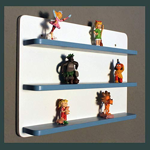 Regal für Toniebox - Figuren tonie tonies ® in weiß-hellblau - groß mit Magnetfunktion - Kinderzimmer