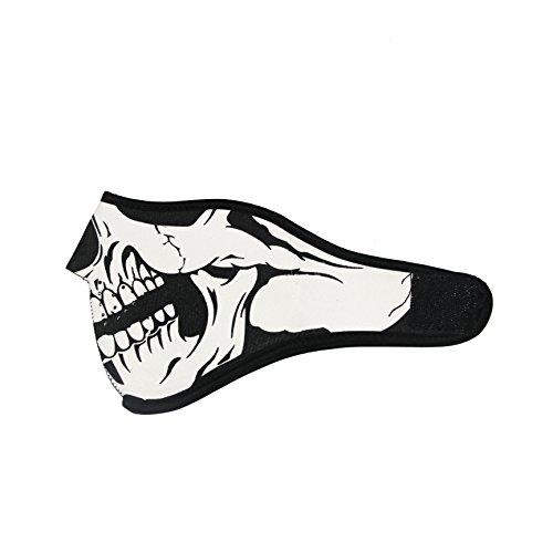 ThreeH Sombrero caliente Máscara facial media calavera Máscara reversible de montar en moto FM09