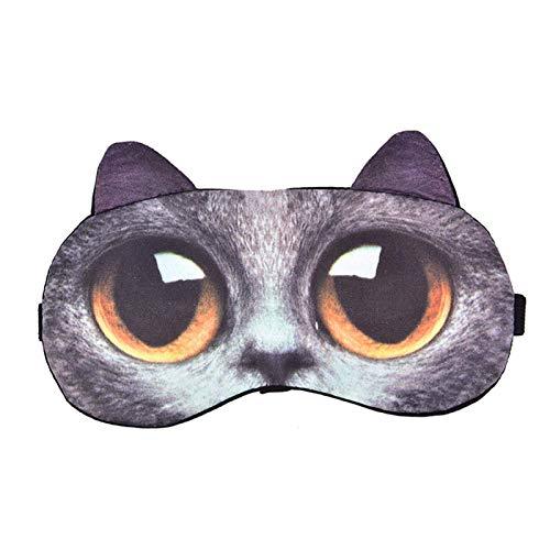 Venda de los ojos, el gato y con forma de perro lindo gafas cubre la máscara natural del ojo, que se suma a la diversión de la vida, elimina la fatiga ocular, mejora la calidad del sueño, y te hace sa