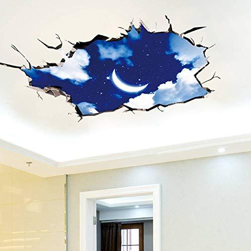 FOMBV Muursticker nachtelijke sterrenhemel plafond stickers vinyl vloer stickers voor kinderen slaapkamer woonkamer toilet huisdecoratie