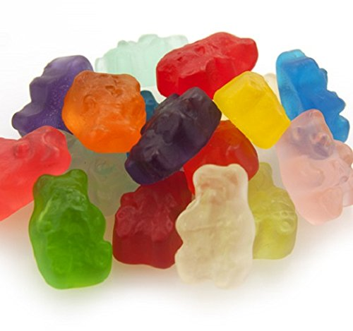 Gourmet (12 Flavors) Gummi Gummy Bears Candy 1 Pound Bag by Albanese Confectionery