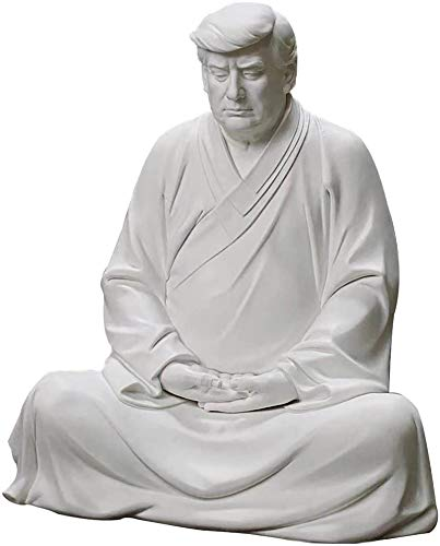 The Classic Resin Jewelry of Former Us President Trump, Chinese-Style Xitian Listening to The Buddha, Suitable for Cars, Office Desktops and Home Accessories to Improve Your Career