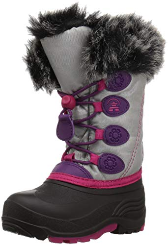 Kamik Girl's Snowgypsy Snow Boot, Silver, 11 Medium US Little Kid