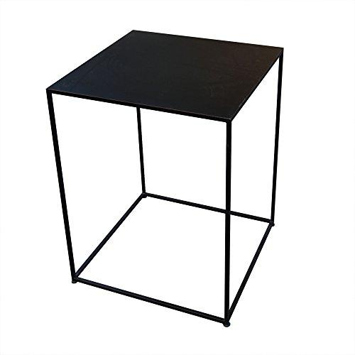 インドネシア産 アイアンキューブテーブル 55×55cm 組立て不要