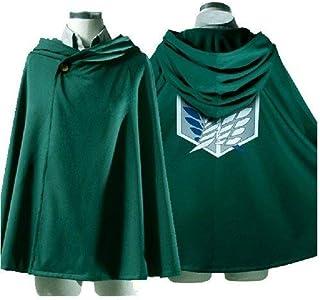 Attack on Titan Shingeki no Kyojin Rivaille Cosplay Costume Cloak (M 64CM)