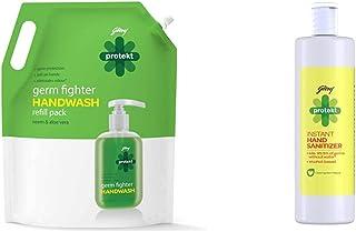 Godrej Protekt Masterchef Germ Protection Handwash - 1500ml & Hand Sanitizer - 500ml, 99.9% Germ Protection