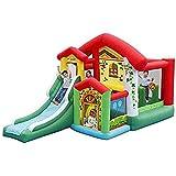 YAMMY Toboganes inflables para niños, Castillo Hinchable para niños, Tobogán de jardín para niños, Zona de Juegos Interior, Gran Parque de Atracciones al Aire Libre para niños C (Piscina)