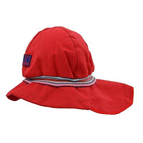PICKAPOOH Baby/Kinder Sonnenmütze/Sonnenhut Feuerwehr Bio-Baumwolle, Rot Gr. 56