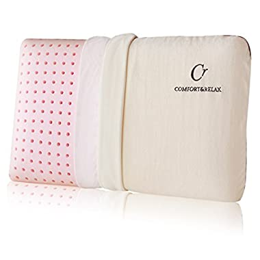 Comfort & Relax Latex Memory Foam Pillow with Ventilation Technology, Medium Soft, Standand