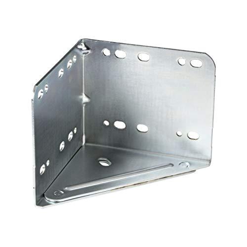 Gedotec Meubelverbinder, voor het schroeven, gegalvaniseerd metaal, voor bevestiging aan bedden, meubels en tafels 1 Stück - Bettwinkel Metall Verzinkt