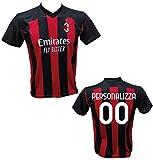 Maglia Calcio Milan Personalizzabile Replica Autorizzata 2020-2021 Bambino (Taglie 2 4 6 8 10 12) Adulto (S M L XL) (6 Anni) (12 Anni)