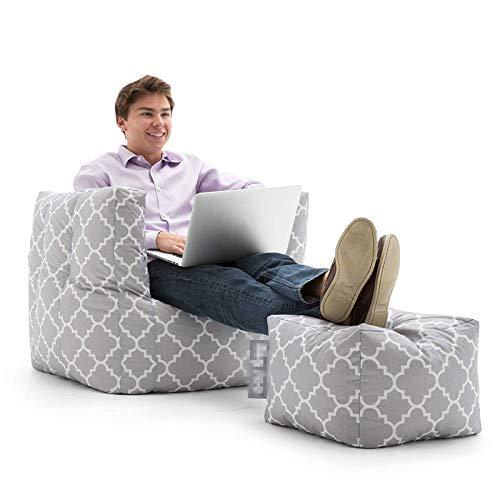NgMik Faule Sofa-Stühle Basar getäfelte Klassische Bohnenbeutel Stuhl Indoor Outdoor Wasserbeständige Bohnenbeutel Bohnenbeutel Sofa-Sack (Color : Gray, Size : One Size)