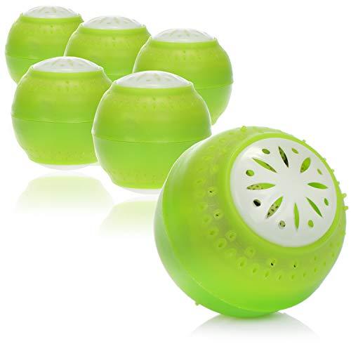 com-four® 6X Lufterfrischer für den Kühlschrank - Geruchsneutralisierer mit Aktivkohle - Geruchsentferner - Kühlschrank Deo