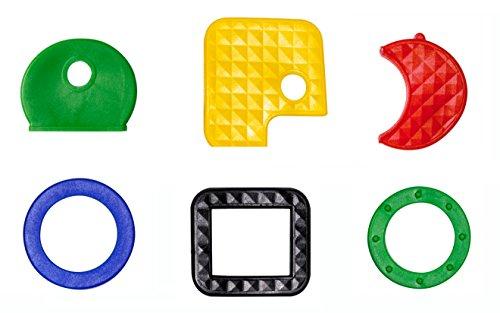 Schlüsselkennzeichnung/Sortimentauswahl für gängige Schlüssel (30 Stück) unterschiedlicher Art - farbig Sortiert (Standardfarben)