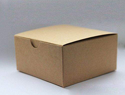 4in. X 4in. X 2in. Kraft Gift Boxes - pack of 5