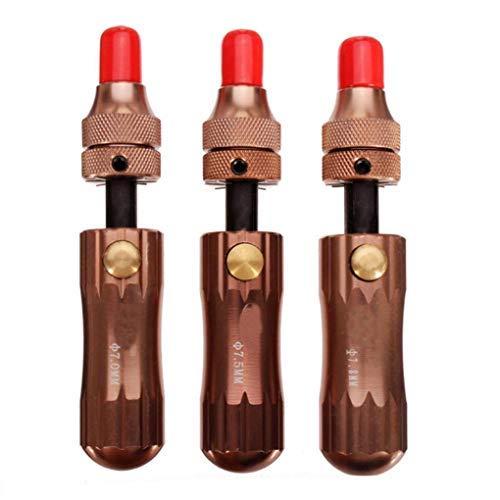 Lot de 3 outils de crochetage de serrure tubulaire réglables 7 mm 7,5 mm 7,8 mm