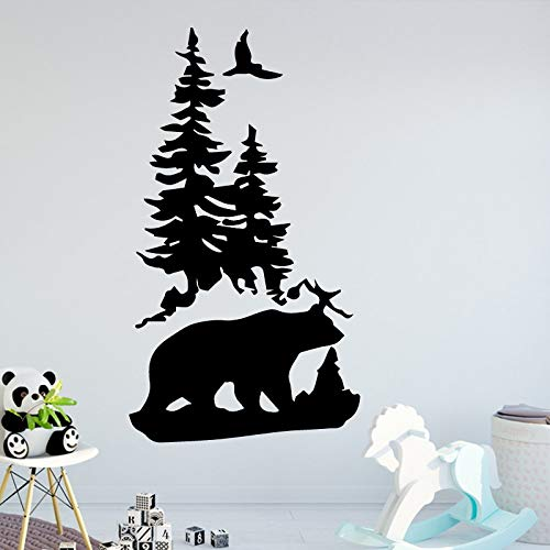 Luxuriant Bear Decals Wall Stickers For Baby Kids Rooms Decor Sticker Mural Red M 30cm X 53cm