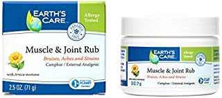 Earth's Care Muscle & Joint Rub Pain Relief Cream for Sore Muscles and Minor Injuries, 2.5 OZ.
