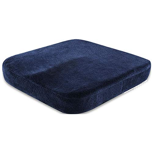 Seat Cushion For Office Chair - Pressure Relief Tailbone Pain Relief Cushion - Orthopedic Gel & Memory Foam Sciatica Pillow For Sitting - Coccyx Cushion For Car, Wheelchair, Computer And Desk Chair