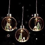 BELLE VOUS Bolas de Navidad (3 Piezas) 9,6 x 10,8 cm - Luces LED Arbol Navidad Bola de...