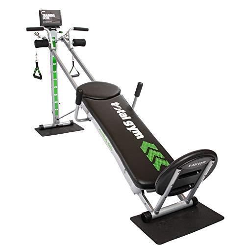 Total Gym APEX G5 Vielseitiges Indoor Home Workout Ganzkörper-Krafttraining Fitnessgerät mit 10 Widerstandsstufen und Aufsätzen