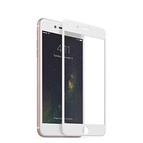 mophie 3D Glass Screen Protector - Compatible with iPhone 8 Plus and iPhone 7 Plus – Complete Screen Coverage for Maximum Protection – White
