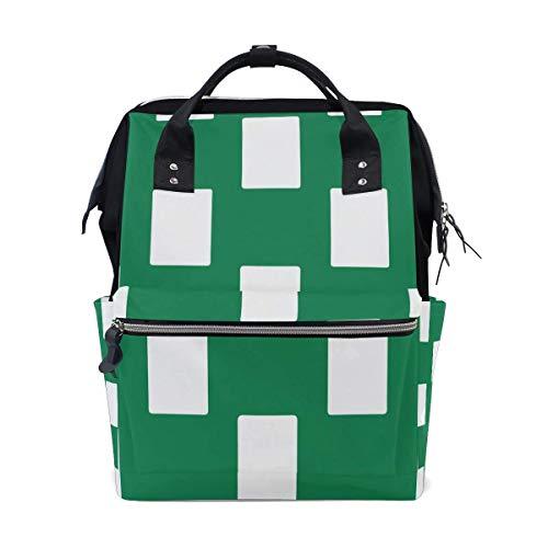 Nigeria vlag wit groen luier zakken grote reizen luier verpleegkundige rugzak mama tas