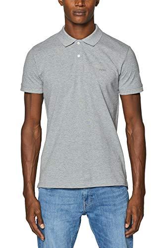 ESPRIT Herren 999EE2K803 Poloshirt, Grau (Medium Grey 035), (Herstellergröße: M)