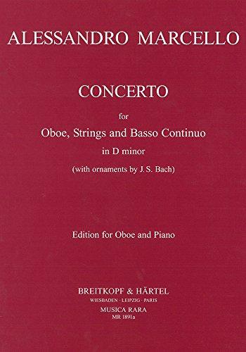 Concerto in d-moll mit Verzierungen von J.S. Bach - Ausgabe für Oboe und Klavier (MR 1891a)