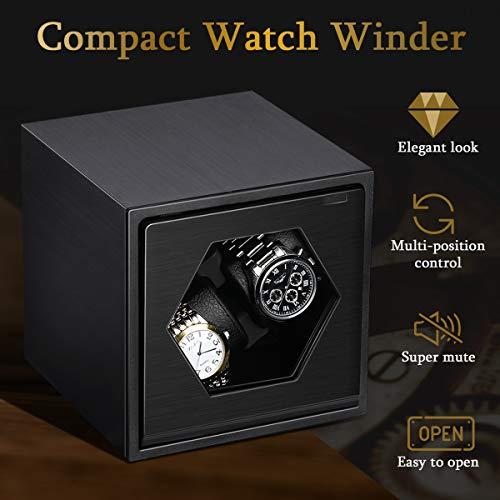 Remontoir à Montres Mécanique Automatique Boîte à Montre Watch Winder Design Compact Isolation...