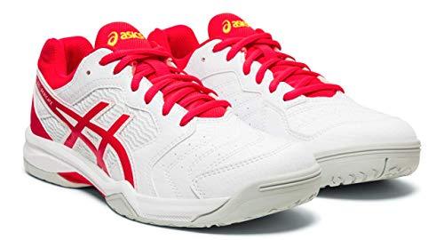 ASICS Gel-Dedicate 6 Women's Tennis Shoes, White/Laser Pink, 8.5 M US